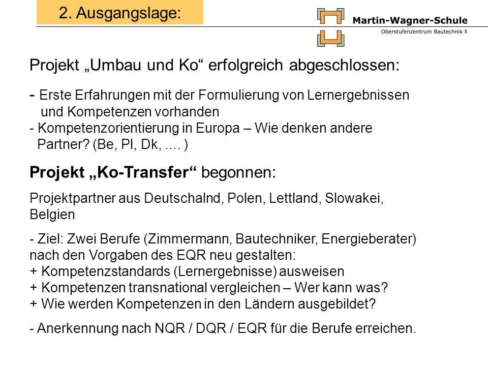 """Projekt """"Umbau und Ko erfolgreich abgeschlossen:"""