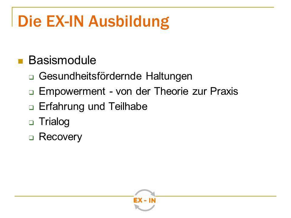 Die EX-IN Ausbildung Basismodule Gesundheitsfördernde Haltungen