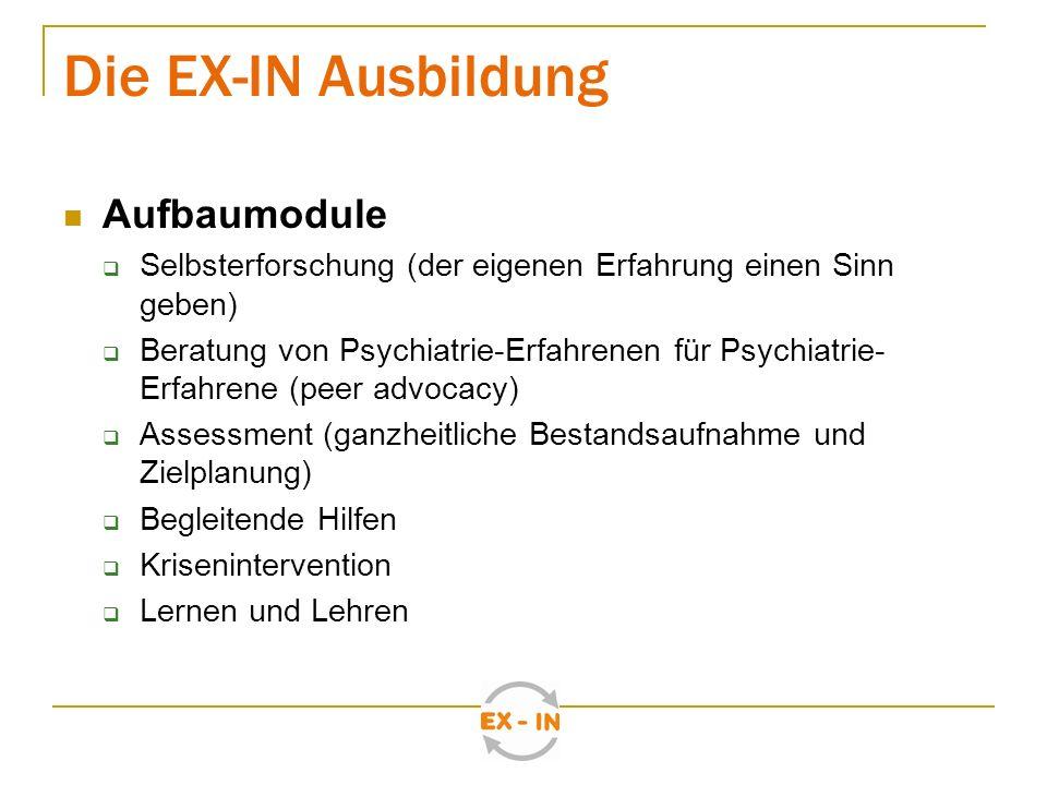 Die EX-IN Ausbildung Aufbaumodule