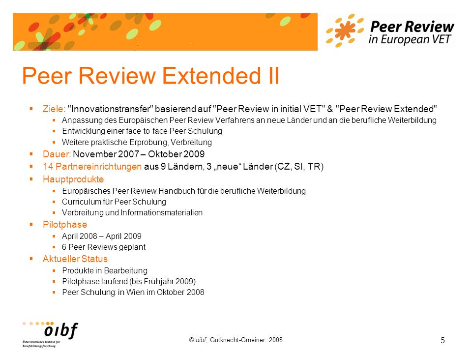 Peer Review Extended II