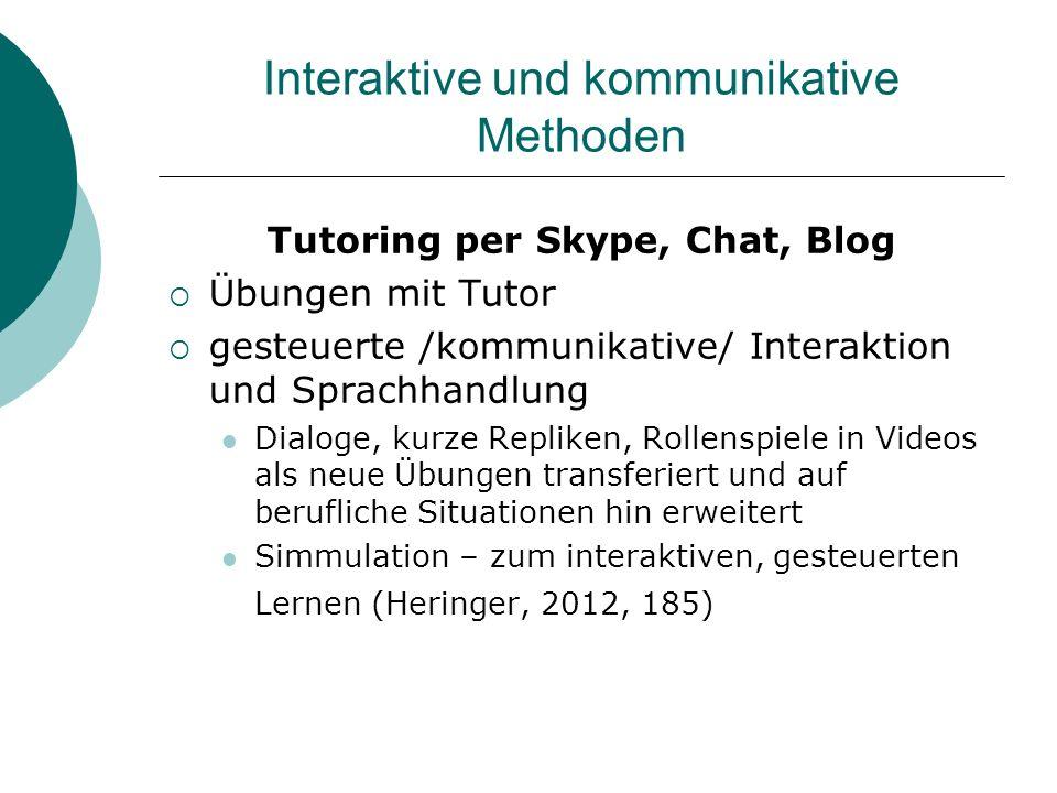 Interaktive und kommunikative Methoden