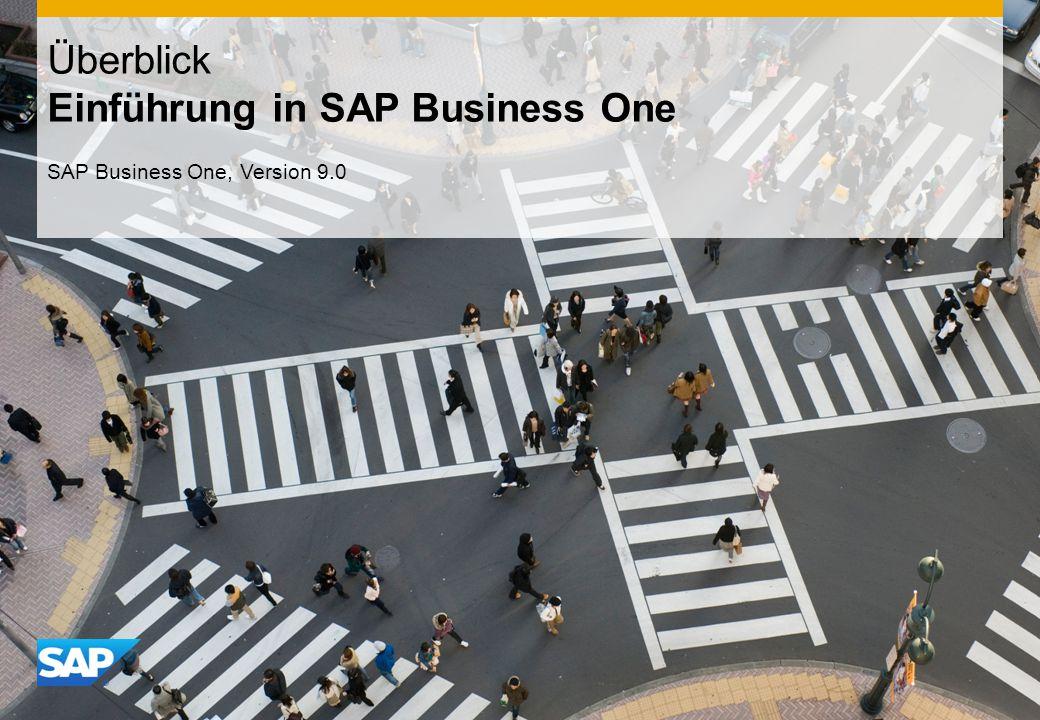 Überblick Einführung in SAP Business One