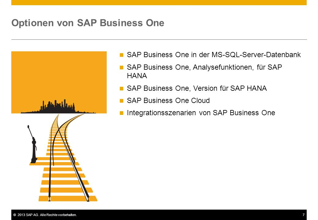 Optionen von SAP Business One