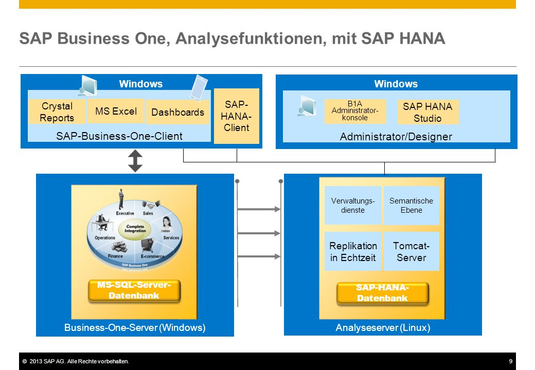 SAP Business One, Analysefunktionen, mit SAP HANA