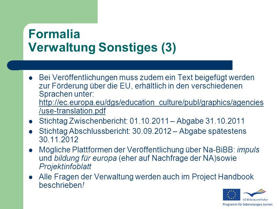 Formalia Verwaltung Sonstiges (3)