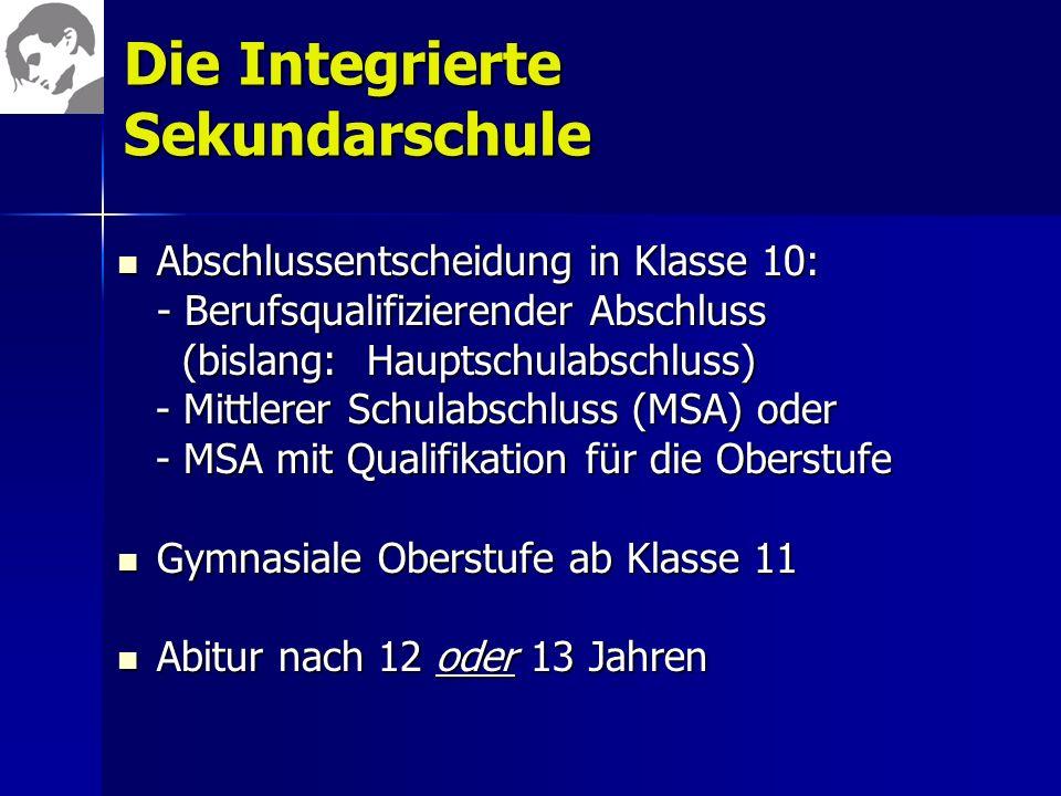 Die Integrierte Sekundarschule