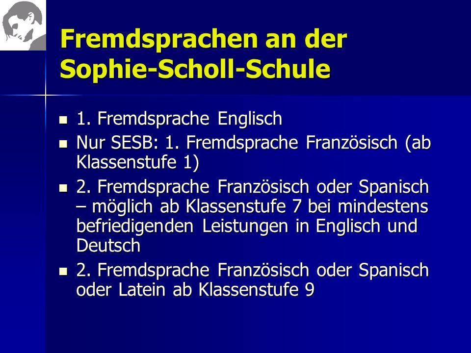 Fremdsprachen an der Sophie-Scholl-Schule