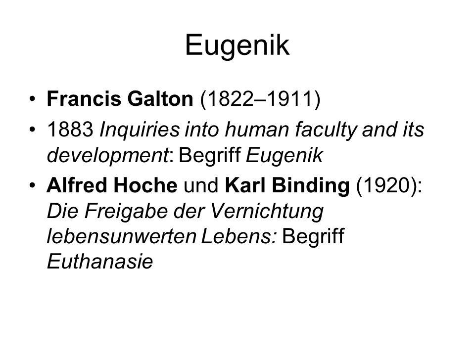 Eugenik Francis Galton (1822–1911)