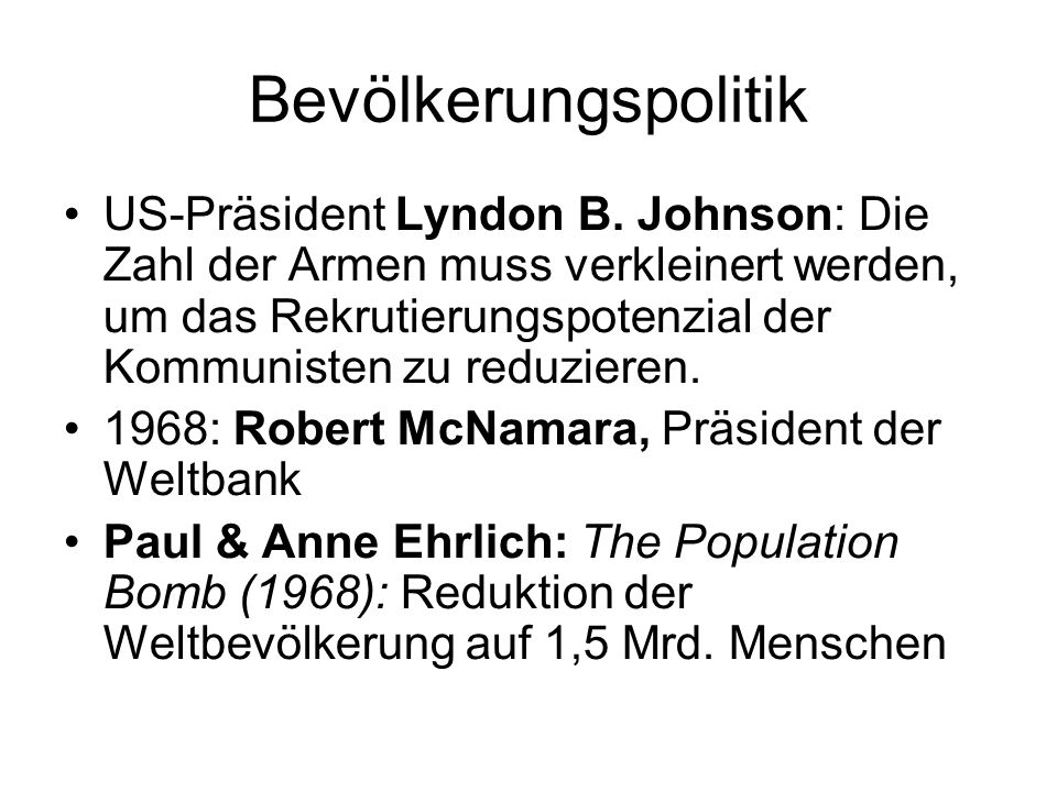 Bevölkerungspolitik