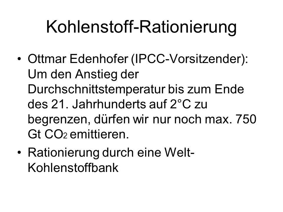Kohlenstoff-Rationierung