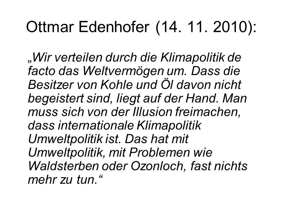 Ottmar Edenhofer (14. 11. 2010):