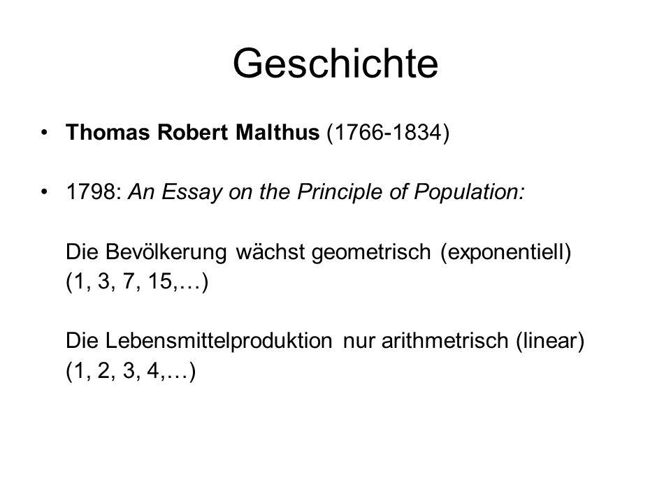 Geschichte Thomas Robert Malthus (1766-1834)