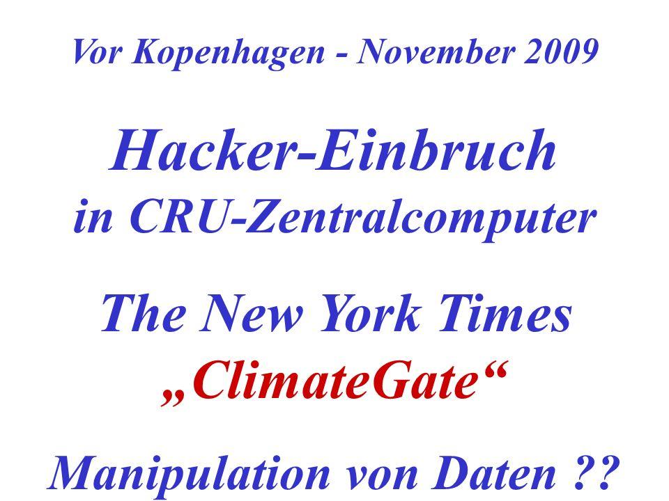 Hacker-Einbruch in CRU-Zentralcomputer
