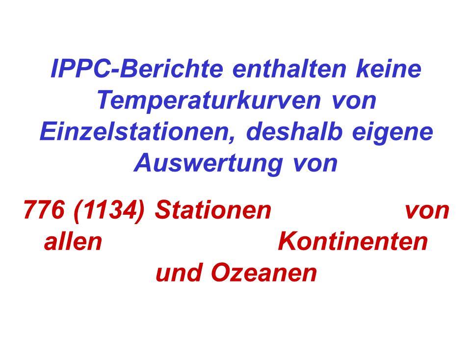 776 (1134) Stationen von allen Kontinenten und Ozeanen