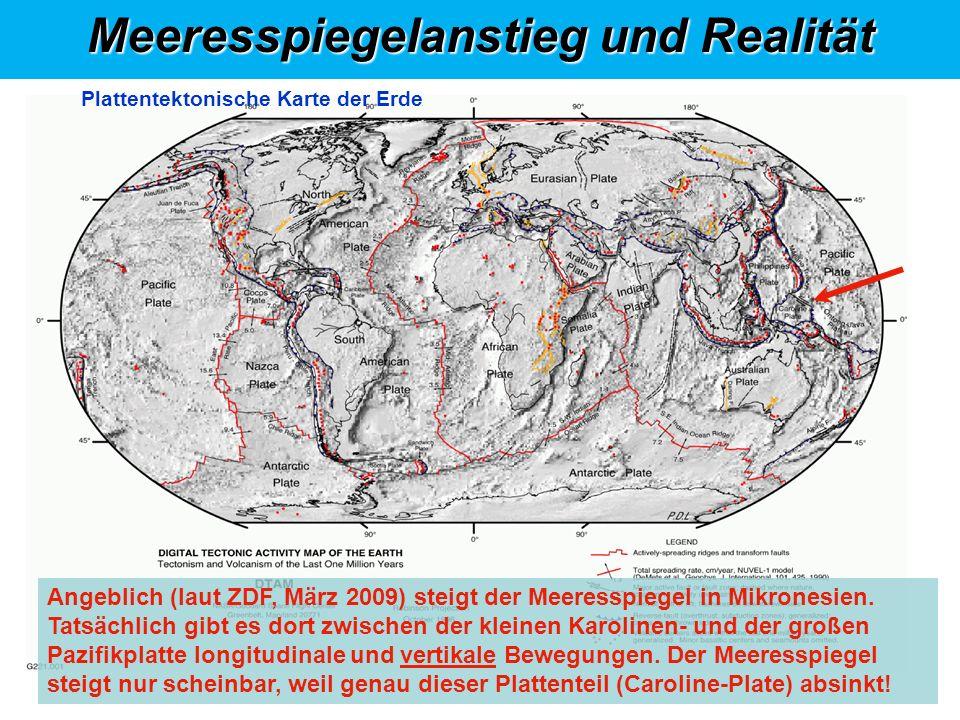 Meeresspiegelanstieg und Realität