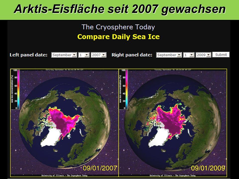 Arktis-Eisfläche seit 2007 gewachsen