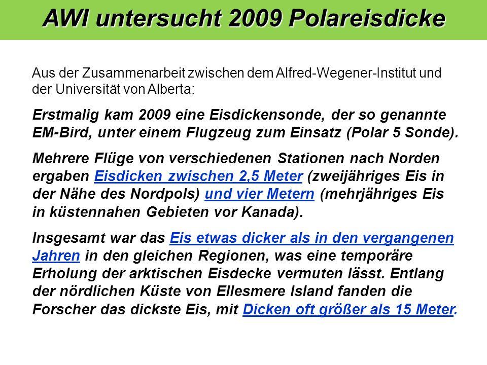 AWI untersucht 2009 Polareisdicke