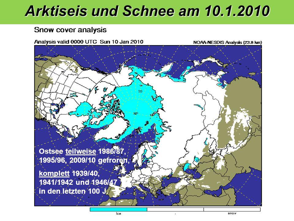 Arktiseis und Schnee am 10.1.2010