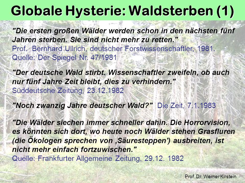 Globale Hysterie: Waldsterben (1)