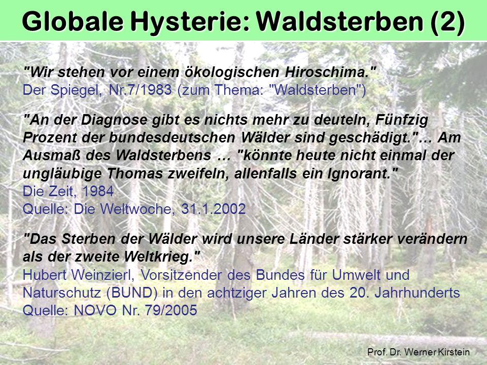 Globale Hysterie: Waldsterben (2)