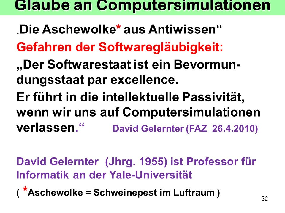 Glaube an Computersimulationen