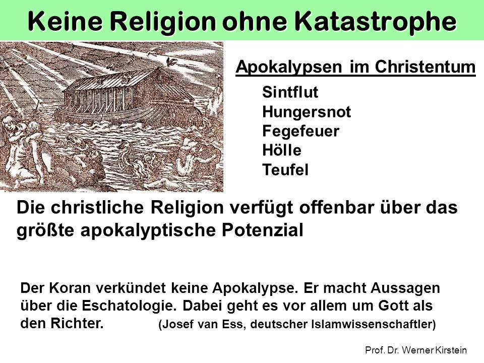 Keine Religion ohne Katastrophe