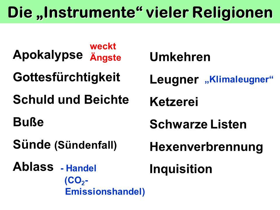 """Die """"Instrumente vieler Religionen"""