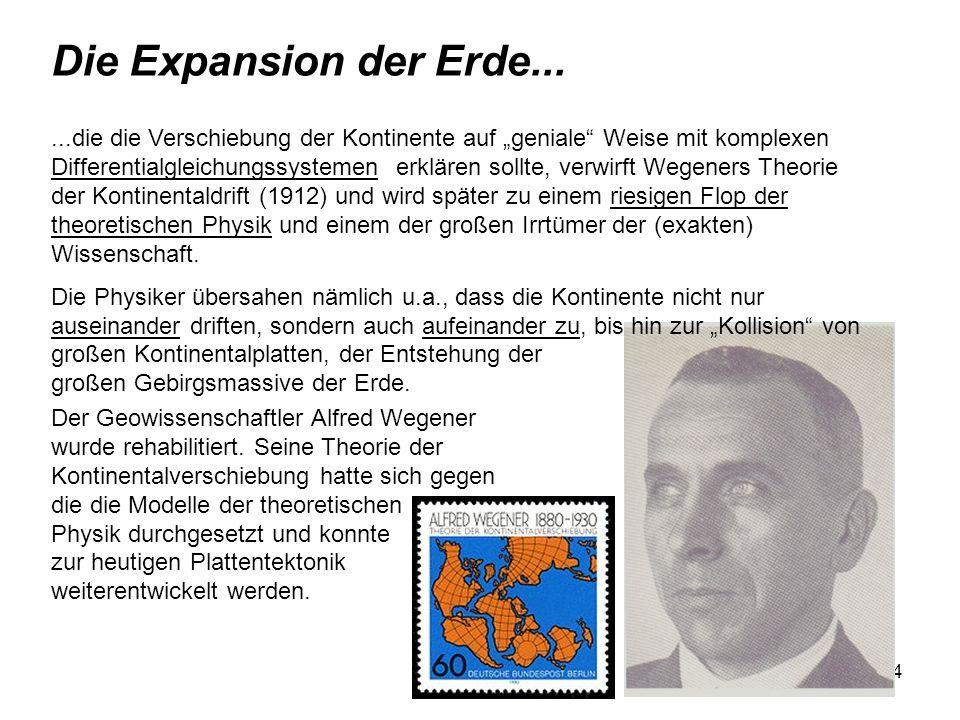 Die Expansion der Erde...