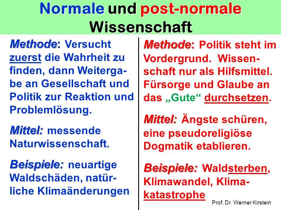 Normale und post-normale Wissenschaft