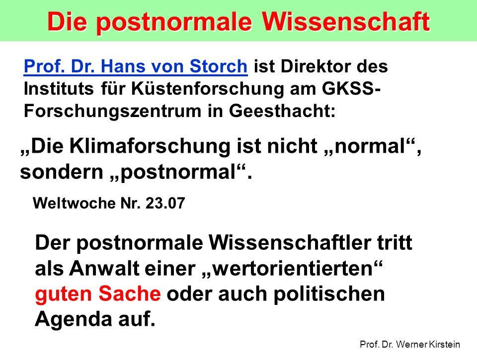 Die postnormale Wissenschaft