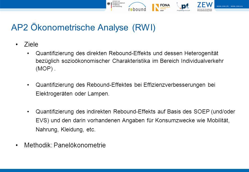 AP2 Ökonometrische Analyse (RWI)