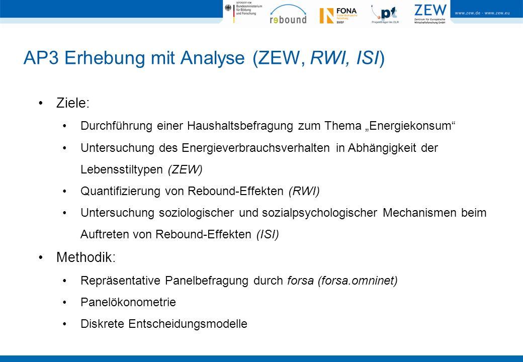 AP3 Erhebung mit Analyse (ZEW, RWI, ISI)