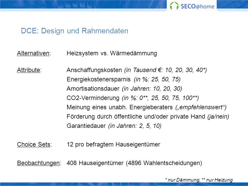DCE: Design und Rahmendaten
