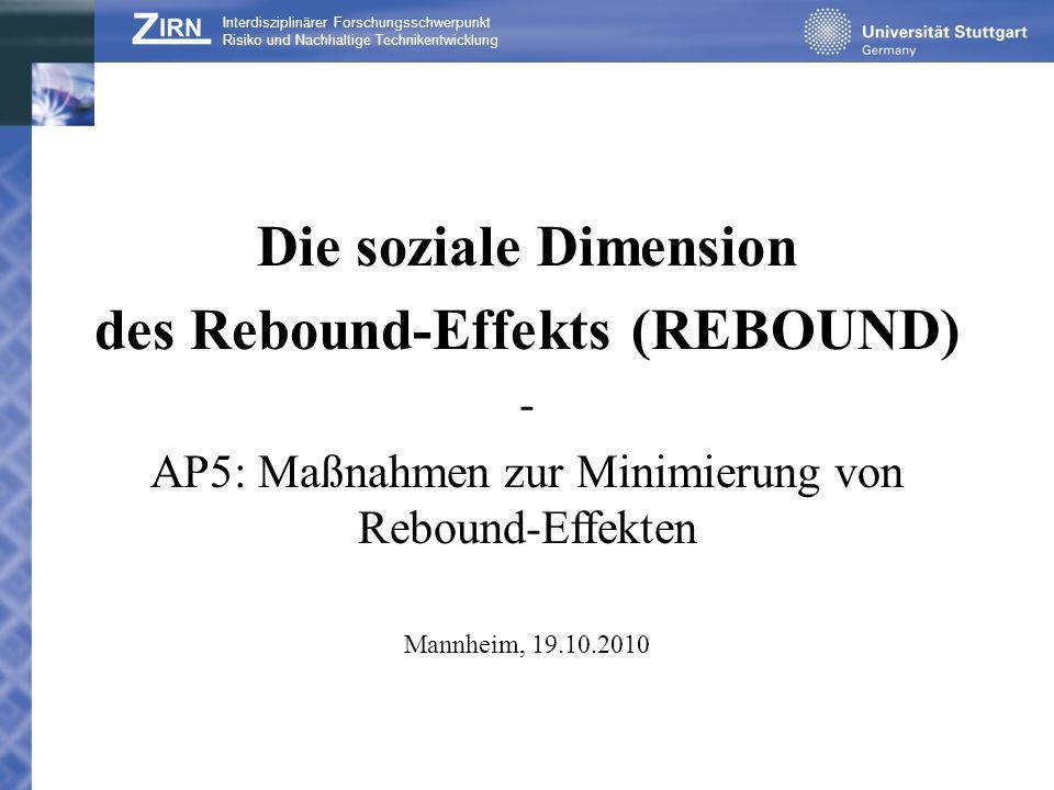 des Rebound-Effekts (REBOUND)