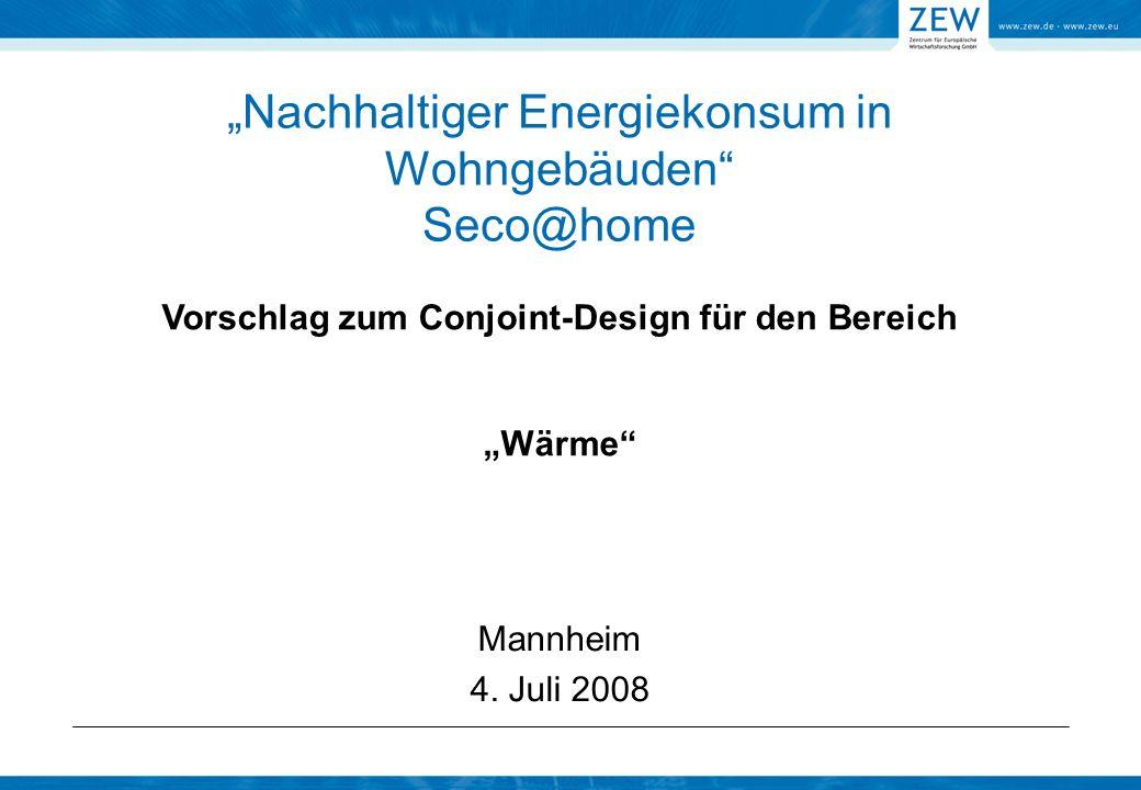 """""""Nachhaltiger Energiekonsum in Wohngebäuden Seco@home"""