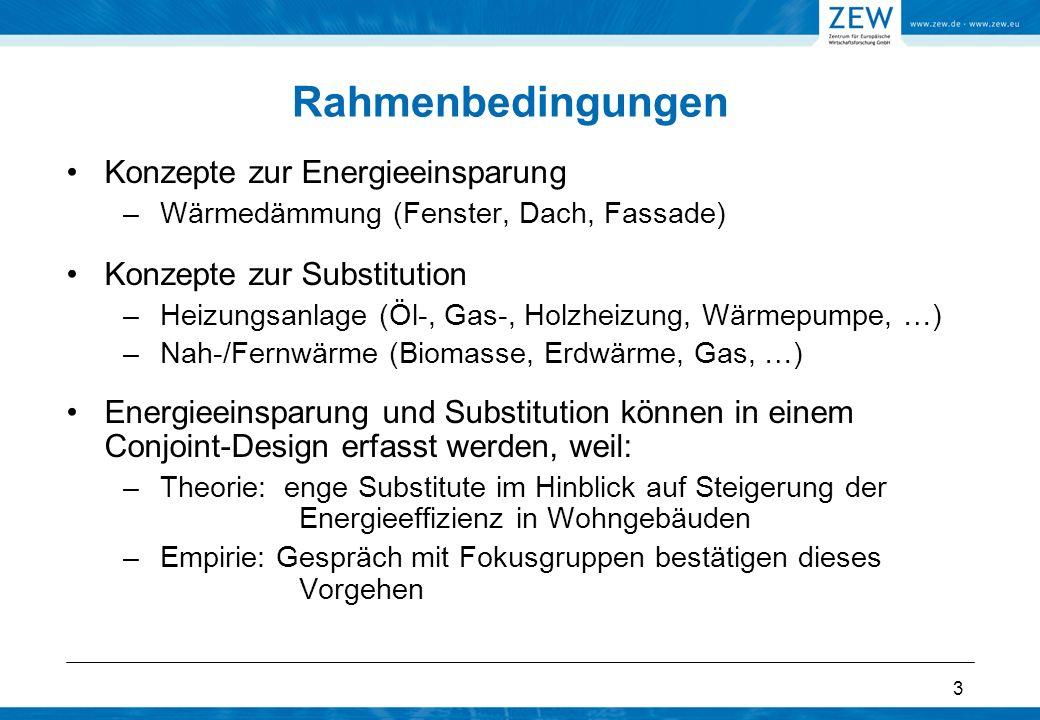 Rahmenbedingungen Konzepte zur Energieeinsparung