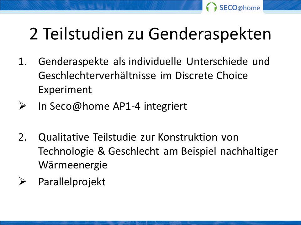 2 Teilstudien zu Genderaspekten