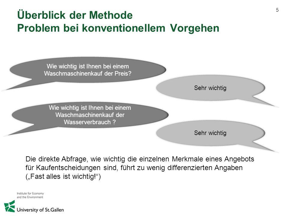 Überblick der Methode Problem bei konventionellem Vorgehen