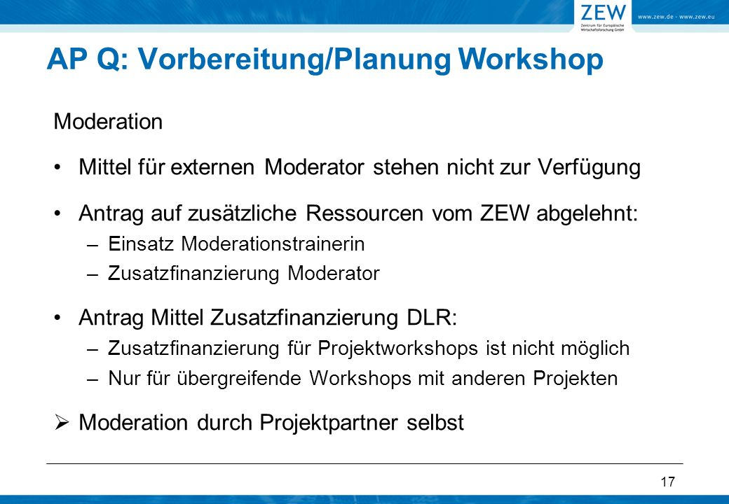 AP Q: Vorbereitung/Planung Workshop