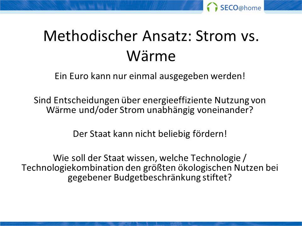Methodischer Ansatz: Strom vs. Wärme