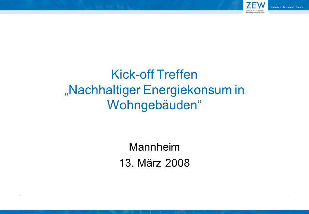 """Kick-off Treffen """"Nachhaltiger Energiekonsum in Wohngebäuden"""