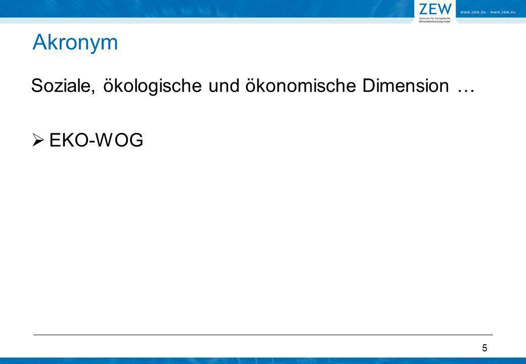 Akronym Soziale, ökologische und ökonomische Dimension … EKO-WOG