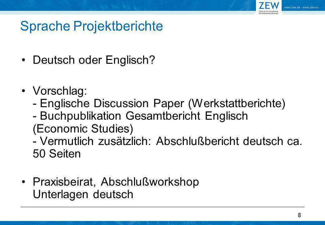 Sprache Projektberichte