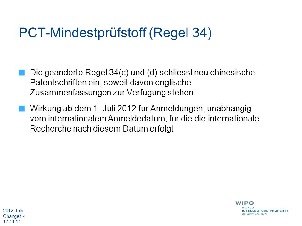 PCT-Mindestprüfstoff (Regel 34)