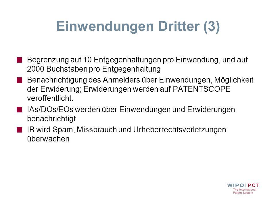 Einwendungen Dritter (3)