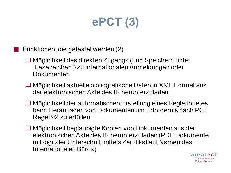 ePCT (3) Funktionen, die getestet werden (2)