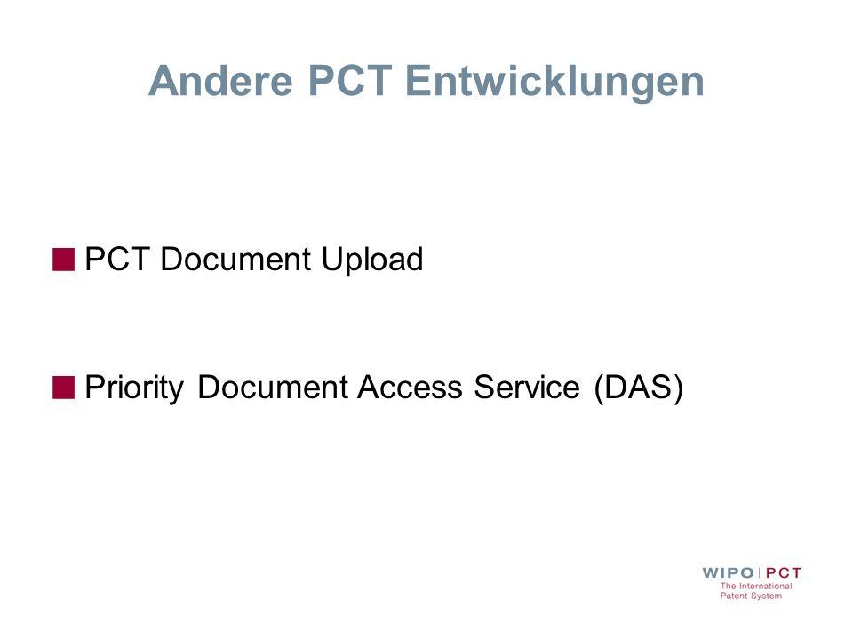 Andere PCT Entwicklungen
