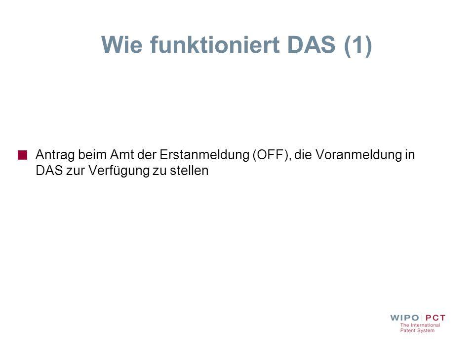 Wie funktioniert DAS (1)