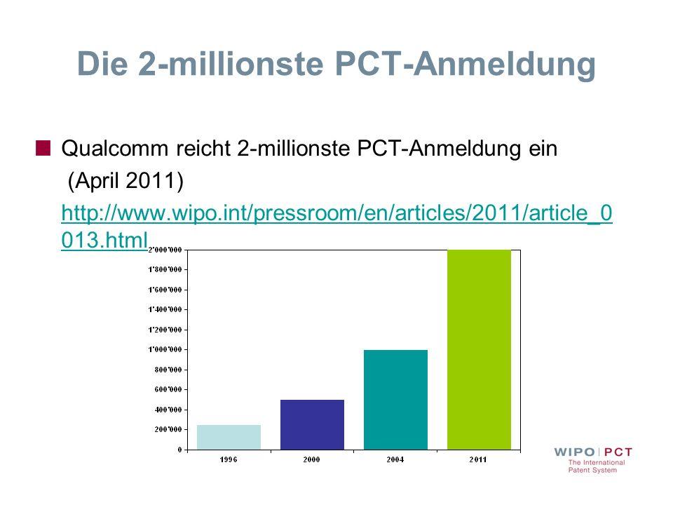 Die 2-millionste PCT-Anmeldung