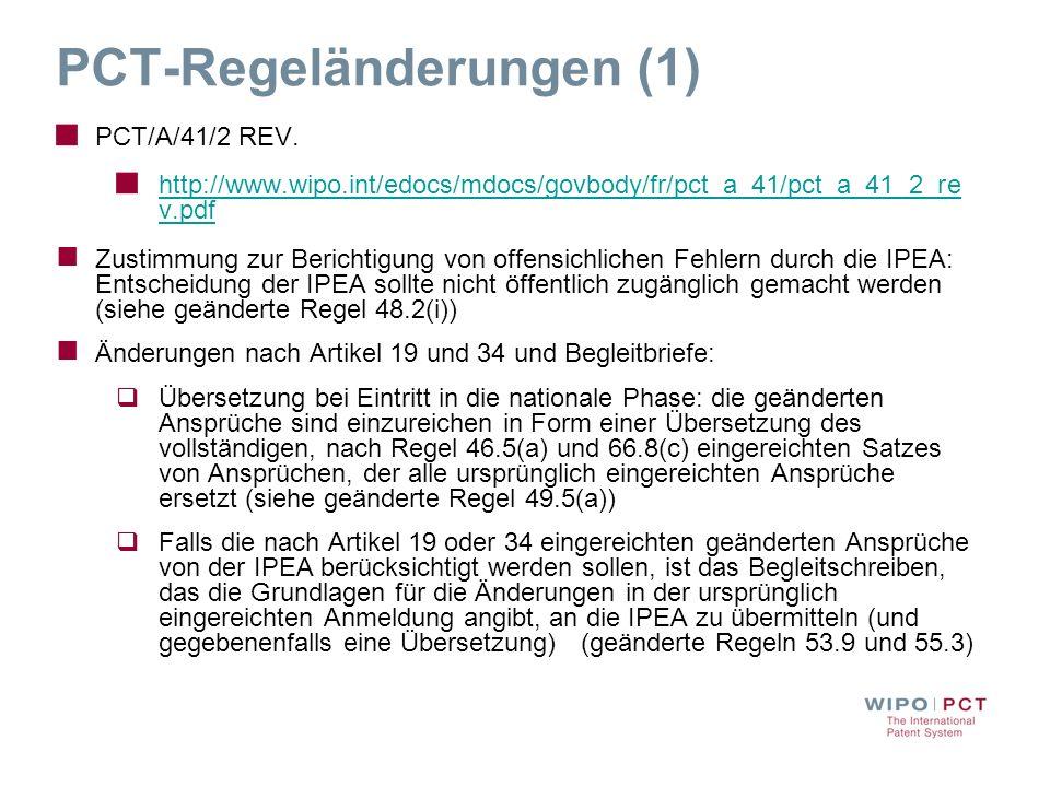 PCT-Regeländerungen (1)